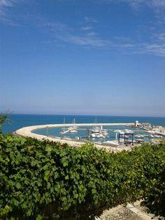 Il porto di Rodi Garganico visto dal centro storico