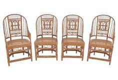 Brighton Pavilion Bamboo Chairs, S/4