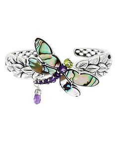 Look what I found on #zulily! Amethyst & Abalone Dragonfly Cuff #zulilyfinds
