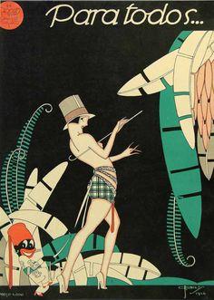 Illustration cover by José Carlos (1884-1950), Aug. 28, 1926, Para Todos…, # 404, Brazil. ielle