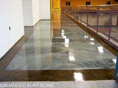 Concrete Floor with Metallic Epoxy.