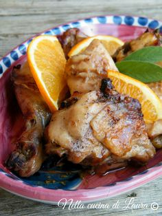 pollo arrosto all'arancia - nella cucina di laura