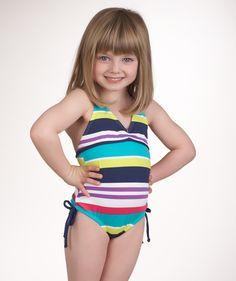 How cute is she?!? Splendid Littles Carnival One Piece Swimsuit $54.00 www.swimspot.com #swimspot