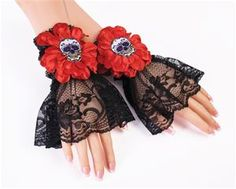 Day of the Dead Catrina Wrist Cuffs - 374274 | trendyhalloween.com