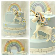 Fantasy/Gothic/Fairytale - The unicorn and rainbow where made out of gumpaste.