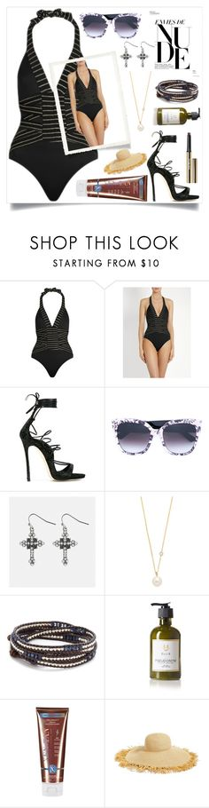 """Inside nude"" by camry-brynn ❤ liked on Polyvore featuring Biondi, Dsquared2, Gucci, Avenue, ZoÃ« Chicco, Chan Luu, Ellis Brooklyn, Xen-Tan, Eric Javits and Trish McEvoy"