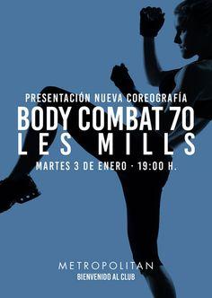 Empieza el año dando una patada a todo aquello que quieres dejar atrás en 2017. Ven a la presentación de la nueva coreografía Les Mills de Body Combat 70. Te esperamos el próximo martes, 3 de enero a las 19:00 h. en Metropolitan Gijón.
