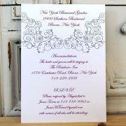 Sangria Flourish Wedding Invitation – Citrine Designs