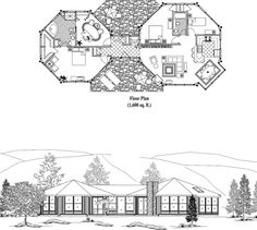 Online House Plan: 1600 sq. ft., 3 Bedrooms, 2 Baths, Classic Collection (CM-0302) by Topsider Homes.