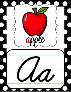 Need some new cursive alphabet posters for your classroom setup? With their alternating black & white and red & white polka dot borders, these would be the perfect fit for a ladybug themed classroom.