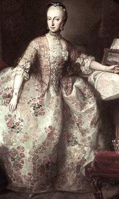 Archduchess Maria Anna of Austria by Martin van Meytens (Hofburg, Innsbruck Austria)