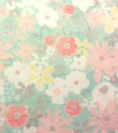 Fashion Cotton Fabric Burnout Ditsy Floral Mint Poly Cotton