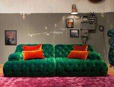 Modern Chesterfield Sofa by BRETZ. Made in Germany. Designer furniture in Sydney, Australia - Flagship BRETZ store Furniture Design, Velvet Furniture, Living Dining Room, Bedroom Design, Furniture Store, Furniture, Dream Decor, Furniture Making, House Interior