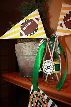 football party decorations....but Steelers of course ;)