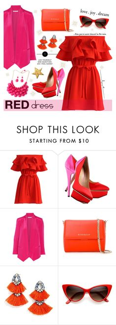 """""""Senza titolo #850"""" by francescar ❤ liked on Polyvore featuring Chicwish, Charlotte Olympia, Rebecca Minkoff, Givenchy and BaubleBar"""