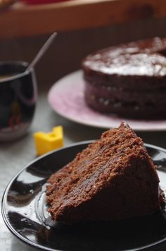 Постный шоколадный торт.