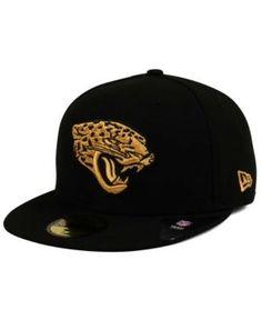 quality design 1e16a 1df3a New Era Jacksonville Jaguars Pop Off 59FIFTY Fitted Cap - Black 7 1 4  Jacksonville