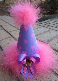 Doc McStuffins Birthday Party Hat Custom Birthday Girl. $17.99, via Etsy.