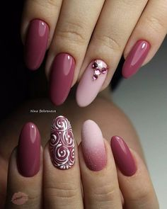 Blush Pink and Burgundy Design – Leben Ideen Blush Pink and Burgundy Design – Leben Ideen,Nageldesign Blush Pink and Burgundy Design Related posts:The Cute Acrylic Nails are so perfect for winter holidays Hope. Manicure Nail Designs, Pink Nail Designs, Nail Manicure, Nails Design, Fancy Nails, Cute Nails, Pretty Nails, Beautiful Nail Art, Gorgeous Nails