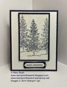 Stampin' in the Sand: Dazzling Midnight Trees