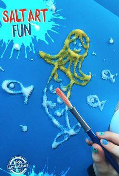 Hacer un dibujo de sal con los niños