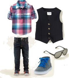 """Little boy outfit with a vest"" by seesarahshoot on Polyvore"