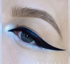Silver and black eye makeup style - LadyStyle