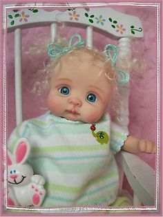 "❤OOAK HAND SCULPTED  BABY GIRL ""ZOEY""   BY: JONI INLOW* DOLLY-STREET❤"