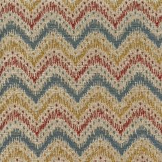 Blaze Federal Woven Ikat Chevron Stripe Upholstery Fabric - Fabric By The Yard At Discount Prices