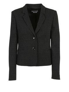 BOUTIQUE MOSCHINO Boutique Moschino Pinstriped Blazer. #boutiquemoschino #cloth #