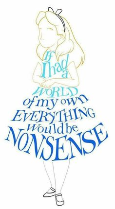 Alice in wonderland quote and image ❤️