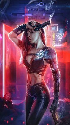 Cyberpunk Girl iPhone Wallpaper - Kostenlose PIK PSD What's Illustration? Cyberpunk 2077, Mode Cyberpunk, Cyberpunk Kunst, Cyberpunk Girl, Cyberpunk Aesthetic, Dark Fantasy Art, Fantasy Girl, Female Character Design, Character Art