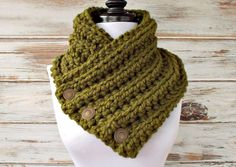 Crochet Cowl  Wellington Cowl in Olive Green  Olive by pixiebell