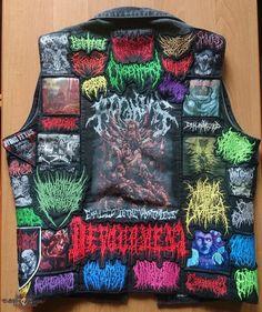 Combat Jacket, Battle Jacket, Death Metal, Crust Punk, Extreme Metal, Metal Fashion, Brutal, Metalhead, Slammed