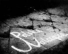 "Graffiti declaring ""Poland is fighting""."