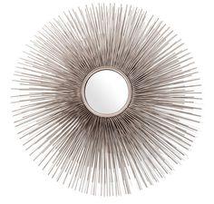Pols Potten - Round Prickle Mirror - Nickel  #affiliate