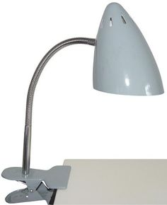 This Clip on Lamp Waterquest is cute with her nice Warm Grey dress and Retro Modern design.So easy to Clip on her everywhere ! On a desk, book shelves, a bed ...What we Love ? Clipping 2 or 3 Lamps side by side just to Play with Colors !Waterquest ? They treat us !