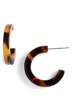 L. Erickson 'Skinny' Mini Hoop Earrings | Nordstrom
