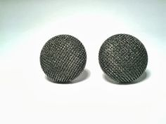 Button EarringsFabric Button Post Earrings by ValiantEfforts, $6.99