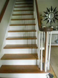 Whitewashed Stairs and a Foyer Update
