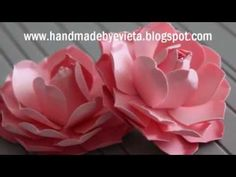 Video - hand made flowers
