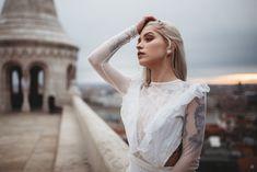 The Ariel gown / Nora Sarman Bridal / photo Mate Santa #bridal #indiebride #bohobride #bride #menyasszonyiruha #budapest #halaszbastya #fishermansbastion