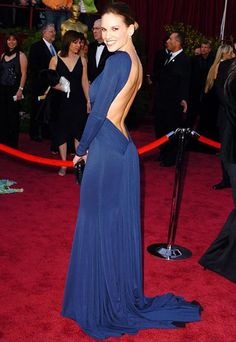 Hilary Swank, 2005  Her role in Million Dollar Baby gave Hilary Swank the perfect body for this dare-to-bare Guy Laroche gown.