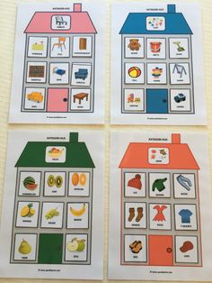 jeg har laget spill for English Activities, Sorting Activities, Preschool Learning Activities, Speech Therapy Activities, Creative Activities, Preschool Activities, Activities For Kids, Things That Go Together, English Teaching Materials