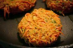 Receita de hambúrguer de cenoura