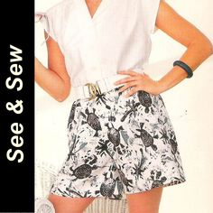 Butterick 5571 See & Sew Pattern Misses Shirt and Shorts Size 14 16 18 Uncut