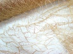 This glitter lace net fabric has a lovely delicate leaf design with glitter.….