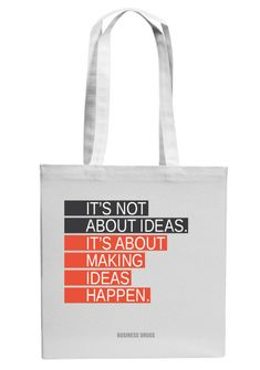 Jutebeutel - IT'S NOT ABOUT IDEAS // tote bag with print by BUSINESS-DRUGS via DaWanda.com
