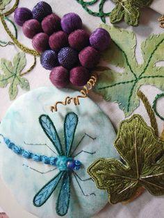 stumpwork dragonfly | Kathleen Laurel Sage