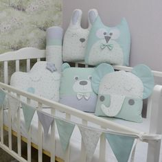 Crib bumpers - Baby bed bumper - Crib bedding - Cot bumper set Cloud Pillow, Bolster Pillow, Cot Bumper Sets, Bed Bumpers, Unisex Baby, Animal Pillows, Crib Bedding, Gender Neutral, Baby Ideas